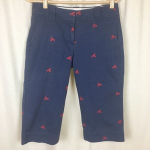 J Crew Women's 4 Lobster Bermuda Shorts Blue